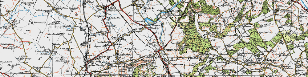 Old map of Wendover in 1919