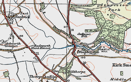 Old map of Wentbridge in 1925