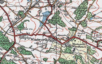 Old map of Wentworth in 1924