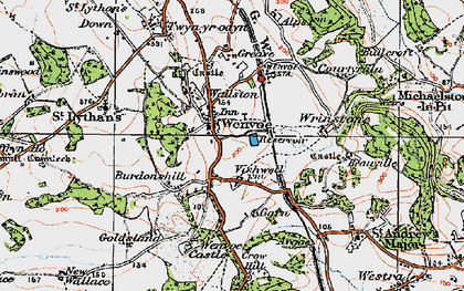 Old map of Wenvoe in 1919