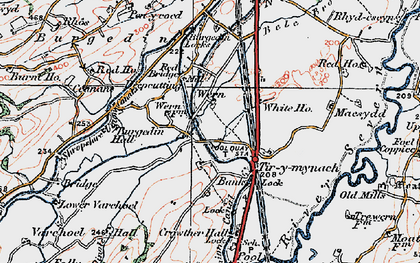 Old map of Bank in 1921