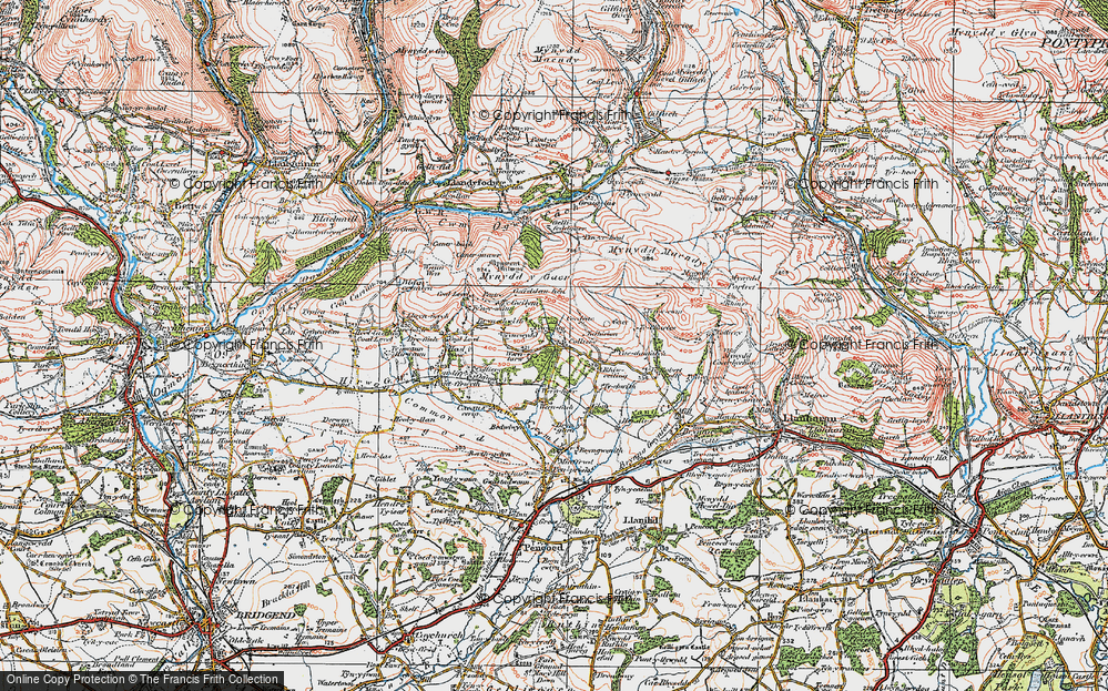 Old Map of Wern Tarw, 1922 in 1922