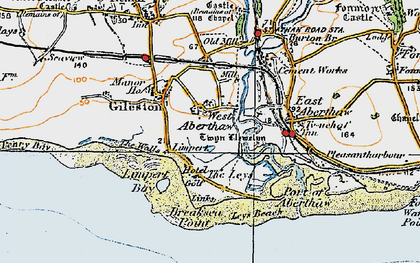 Old map of Leys Beach in 1922