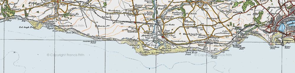 Old map of West Aberthaw in 1922