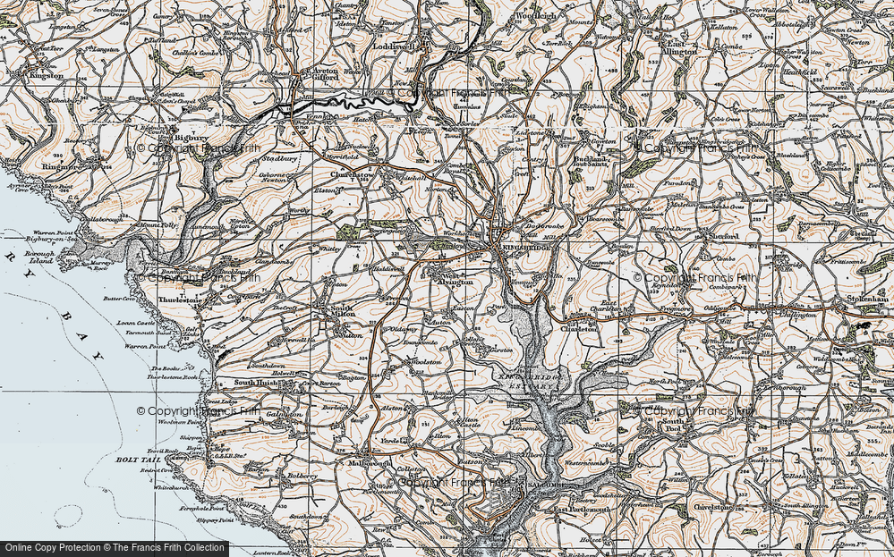 Old Map of Historic Map covering Auton in 1919