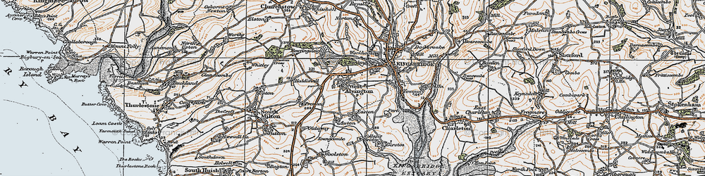 Old map of Youngcombe in 1919