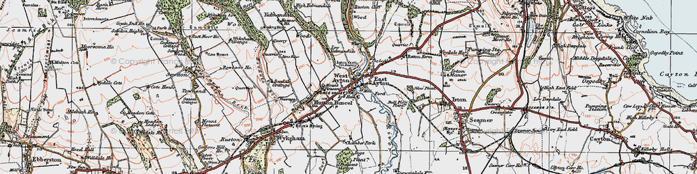 Old map of West Ayton in 1925