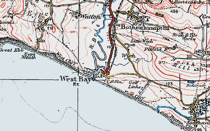 Old map of West Bay in 1919