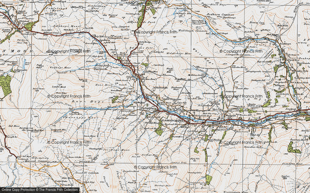 Old Map of West Blackdene, 1925 in 1925