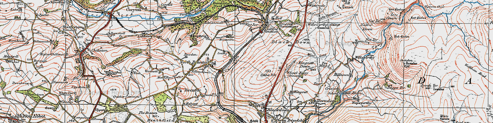 Old map of Wheal Betsy in 1919