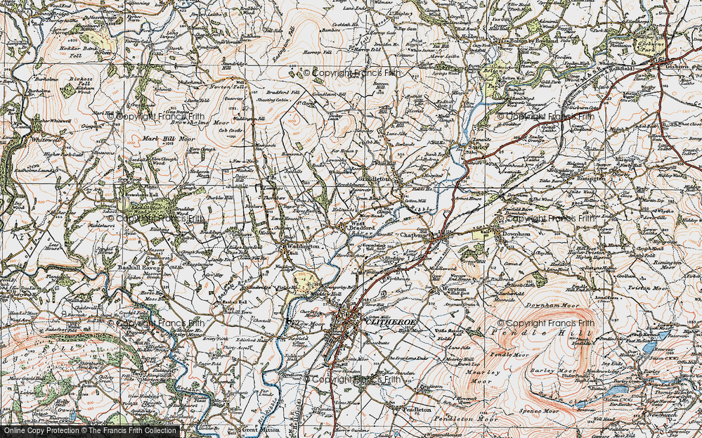 Old Map of West Bradford, 1924 in 1924