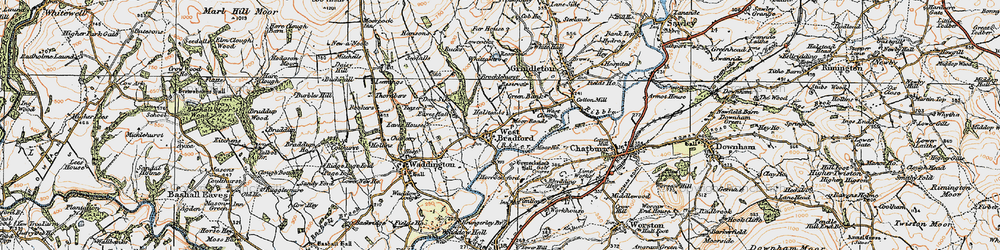 Old map of Whittakers in 1924