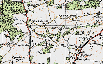Old map of Wheatley Grange in 1925