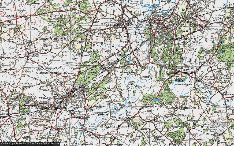 Old Map of West Byfleet, 1920 in 1920