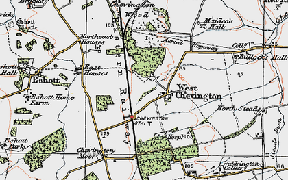 Old map of West Stobswood in 1925