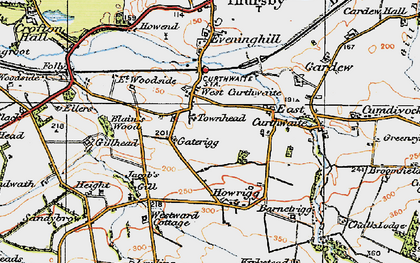 Old map of West Curthwaite in 1925