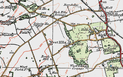 Old map of Westwinds in 1924