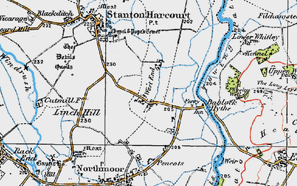 Old map of Bablock Hythe in 1919