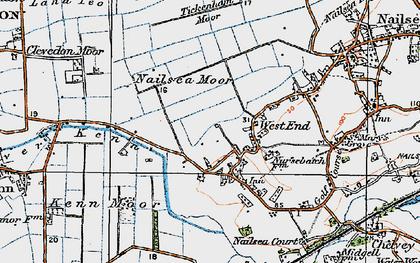 Old map of Tickenham Moor in 1919