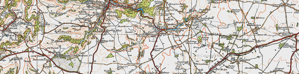 Old map of Westfield Barn in 1919