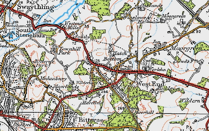 Old map of West End in 1919
