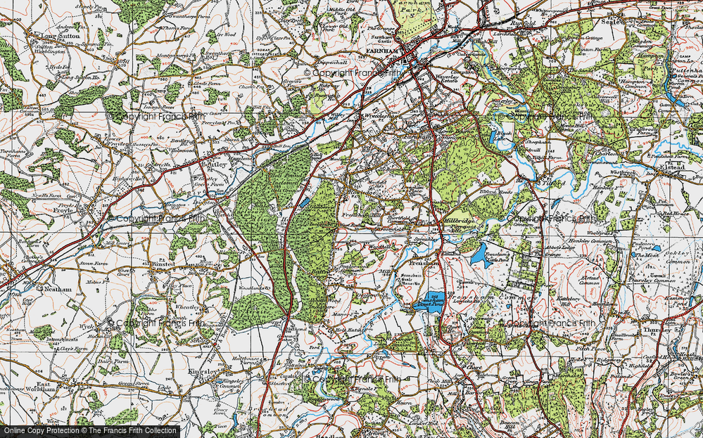 Old Map of Historic Map covering Woodhill in 1919