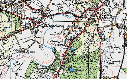 Old map of West End in 1920