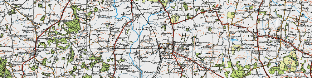 Old map of Wyckham Wood in 1920