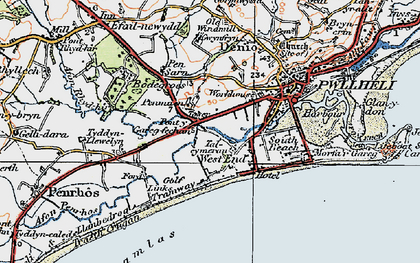 Old map of West End in 1922