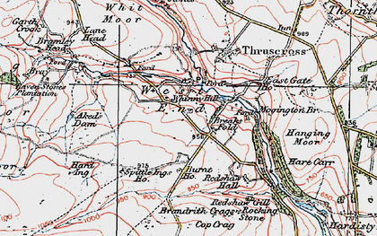 Old map of Windy Hill Ho in 1925