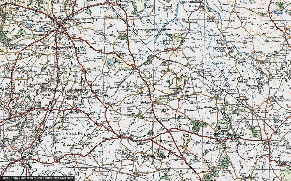 Old Map of Historic Map covering Aston Locks in 1921