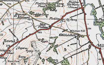 Old map of Whitton Hill in 1926