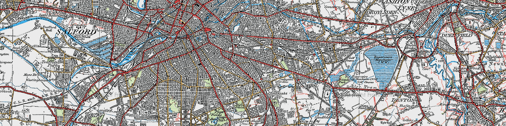 Old map of West Gorton in 1924