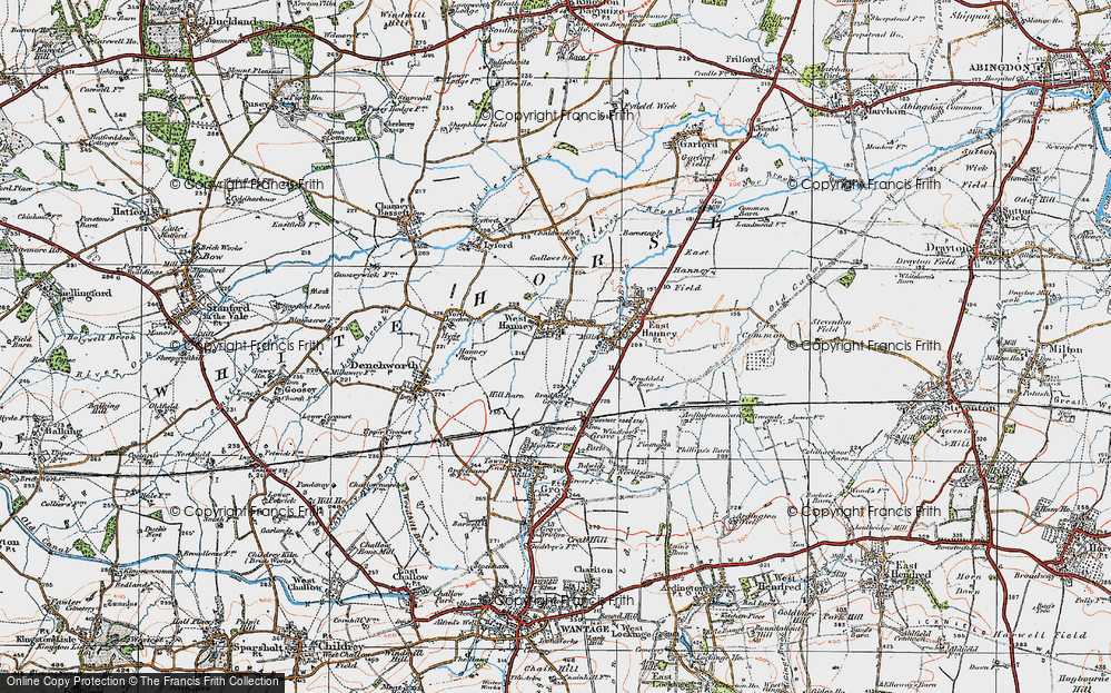 Old Map of West Hanney, 1919 in 1919