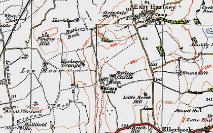 Old map of Winton Beck in 1925