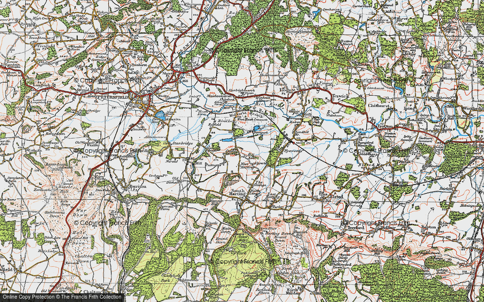 Old Map of West Harting, 1919 in 1919