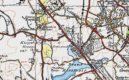 Old map of West Hendon in 1920