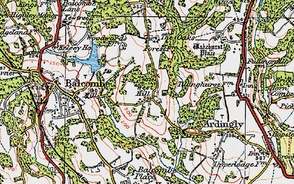 Old map of Balcombe Place in 1920