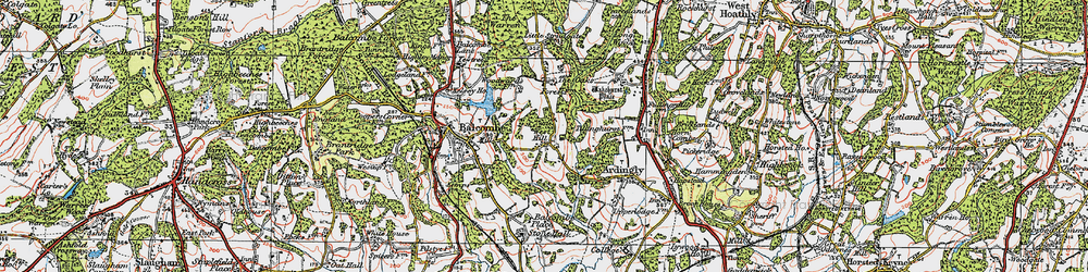 Old map of Ardingly Resr in 1920