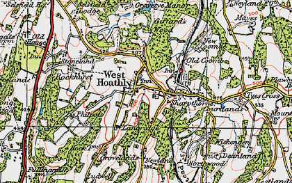 Old map of West Hoathly in 1920