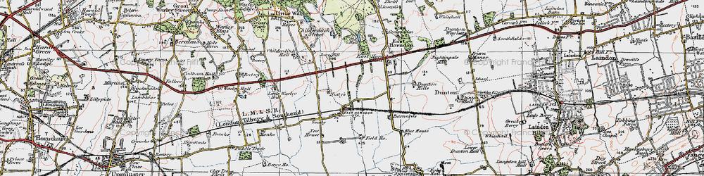 Old map of Tillingham Hall in 1920