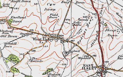 Old map of West Ilsley in 1919