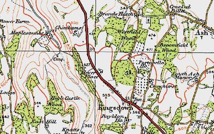 Old map of West Kingsdown in 1920