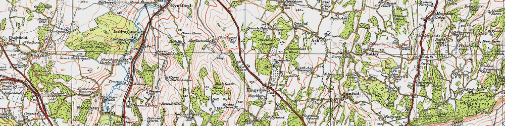 Old map of Brands Hatch Circuit in 1920
