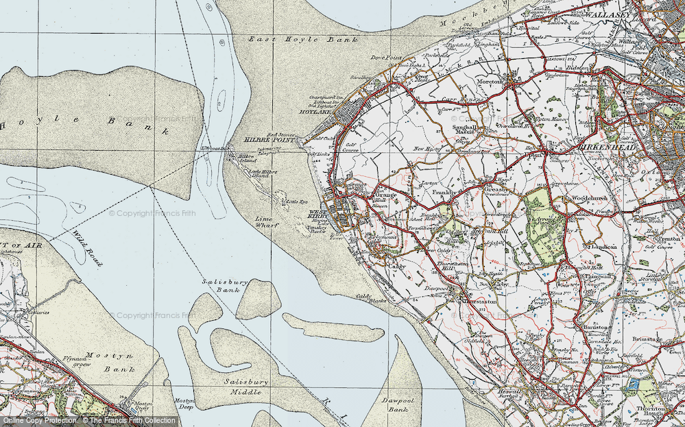 Old Map of Historic Map covering Lime Wharf in 1923