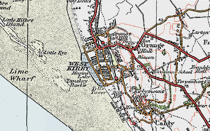 Old map of Lime Wharf in 1923