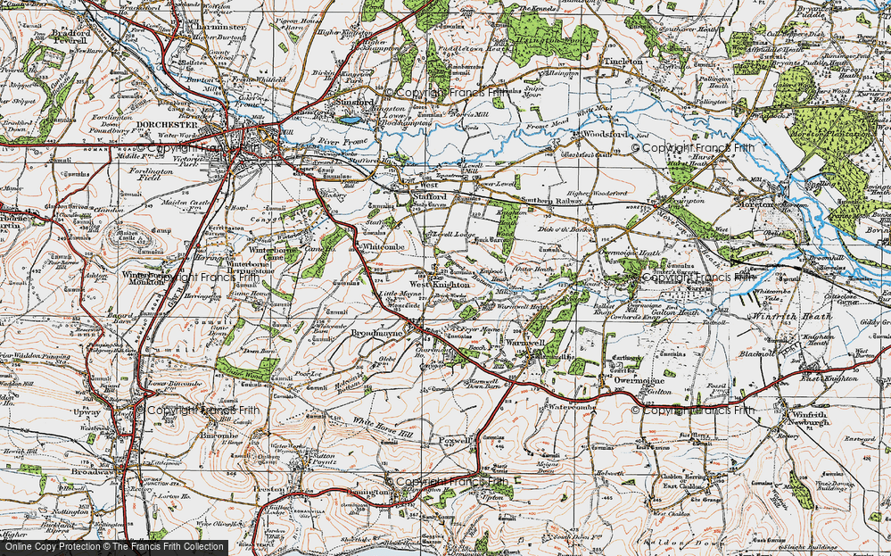 Old Map of Historic Map covering Lewell Lodge in 1919