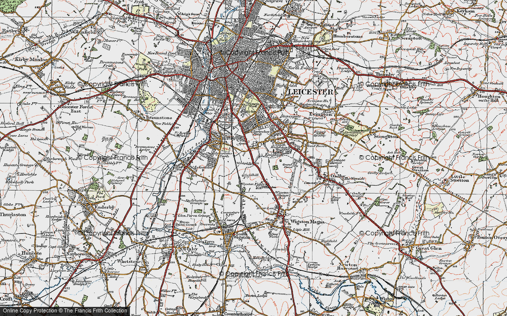 Old Map of West Knighton, 1921 in 1921