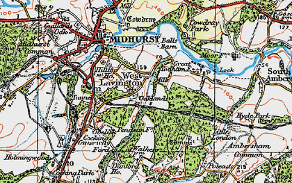 Old map of West Lavington in 1919