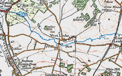 Old map of Ash Spinney in 1921